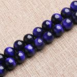 Natural Purple Tiger Eyes Stone Loose Round Beads 6 8 10 12mm Strand DIY <b>Jewelry</b> Making <b>Supplies</b>