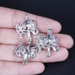 10pcs Silver Asian Elephant Pearl Cage <b>Jewelry</b> Making <b>Supplies</b> Bead Cage Pendant Essential Oil Diffuser For Pearl Jewellry