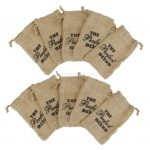 10Pcs Linen Jute Sack <b>Jewelry</b> Pouch Drawstring Gift Bags Wedding Favor