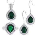 YY Fine Jewelry 925 <b>Sterling</b> <b>Silver</b> Diamond Boutique luxurious Malachite Vintage woman girl Engagement Set Ring <b>Earring</b> Pendant