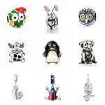 Fit Pandora Bracelet Silver 925 Original animal charms collection owl rabbit elephant frog dog beads fashion DIY <b>jewelry</b> <b>supply</b>
