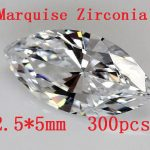 MRHUANG Free shipping! 300pcs/pack Marquise Shape Zircon 2.5*5MM AAA Grade Cubic Zirconia DIY <b>Jewelry</b> Findings <b>Supplies</b>