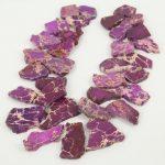 Full strand Top Drilled Sea Sediment Flat Slab Beads Necklace <b>Jewelry</b>,Large Impression Stone Slice Pendants <b>Supplies</b> Bulk