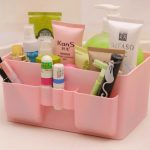Candy Color Desktop Pen Makeup Cosmetic Sundries Storage Organizer Box for Women <b>Supply</b> Organizer for Office, Home,School