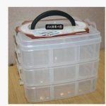 Fashion small size three layers detachable 18 grid plastic storage box electronic components home <b>supplies</b> multicolor box