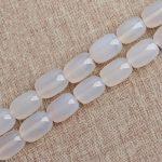 A Strand 13*18mm White Aga te Barrel Drum Shape <b>Jewelry</b> Making Beads Semi Precious Products Wholesale DIY <b>Supplies</b>