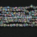 5-8mm Rainbow Titanium Quartz Drilled Chips Beads,Raw Crystals Rough Quartz Rubble Loose Beads Nuggets <b>Jewelry</b> <b>Supplies</b>