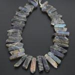 Full strand Natural Flash Labradorite Slice Beads Pendants <b>Jewelry</b>,Top Drilled Raw Labradorite Slabs Necklace Wholesale <b>Supplies</b>