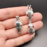 10pcs Silver Spiderman Pearl Cage <b>Jewelry</b> Making <b>Supplies</b> Bead Cage Pendant Aroma Essential Oil Diffuser Locket For Oyster Pearl