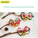 AHUAPET Chrismas Decoration Dog Bow Tie Pet Shop Dog/Cat Acessorios With Collar Cat Pet <b>Supplies</b> New Year <b>Jewelry</b> Kedi Mascotas
