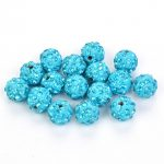 50pcs/lot 10mm Shamballa Beads Accessories Lake Blue Beads <b>Supply</b> Charm Disco Ball Bead <b>Jewelry</b> Suitable Knitting Bracelet