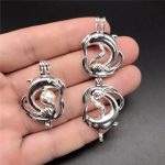 10pcs Silver Dolphin Pearl Cage <b>Jewelry</b> Making <b>Supplies</b> Beads Cage Pendant Aroma Essential Oil Diffuser For Oyster Pearl <b>Jewelry</b>