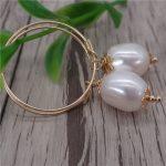 Eternal wedding Women Gift word 925 <b>Sterling</b> <b>silver</b> real New natural special-shaped pearl <b>earrings</b>, Europe and America pearl ear