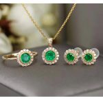 CoLife Jewelry <b>silver</b> emerald jewelry set for wedding natural emerald jewelry solid 925 <b>silver</b> antique emerald jewelry set