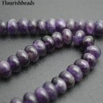 Wholesale High Quality Natural Amethyst 5x8mm Rondelle Shape Stone Spacer Loose Beads <b>Jewelry</b> <b>Supplies</b>