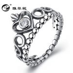 the <b>supply</b> of S925 pure silver <b>jewelry</b> with crystal <b>jewelry</b>, crown shaped heart zircon ring, female factory direct sale