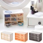 Transparent 9 <b>Jewelry</b> Storage Box Mini Cabinets Lattice Portable Amall Drawer Sorting Grid Desktop Office <b>Supplies</b> V3