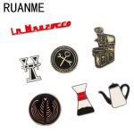 Fashion <b>jewelry</b> retro coffee cup series leisure interest metal drip brooch wholesale