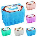 30Grids Clear Plastic Craft Beads Jewellery Storage Organizer Compartment Tool Box Caixa Organizadora Household Storage <b>Supplies</b>