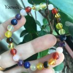 Yoowei New Amber Bracelet/Necklace for Women Baby Colorful Natural Gemstone Adult Real Baltic Amber <b>Jewelry</b> <b>Supplies</b> Wholesale