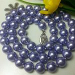 Charming! 8mm Purple Ocean Sea Shell Imitation Pearl Neckalce Fashion <b>Jewelry</b> Making Natural Stone 18 inch Wholesale <b>Supply</b>