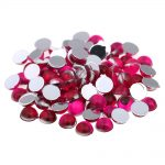 Acrylic Nail Art Rhinestones Flat Back Many Sizes Dark Rose Color Half Round Facets Glue On Beads DIY Craft <b>Jewelry</b> <b>Supplies</b>