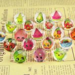 2017 <b>Jewelry</b> Rings Wholesale Jewellery Mix Lots 20pcs Lovely Children/kinds Cartoon fruit Princess Pretty Ring Party <b>Supplies</b>
