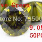 MRHUANG <b>Jewelry</b> <b>Supplies</b> AAA Grade CZ Cubic Zirconia Olive Green Round Zircon 9.0MM DIY <b>Jewelry</b> Findings <b>Supplies</b> Free Shipping