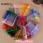 100pcs 20×30 Organza <b>Jewelry</b> Packing Bags Candy Gift Pouches for Kids Wedding Party Decoration <b>Supplies</b> 5Z