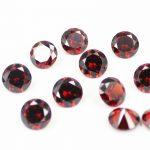 100pcs/pack 7.0mm 8mm CZ Cubic Zirconia Stone Beads Garnet Round Zircon DIY <b>Jewelry</b> Findings <b>Supplies</b> Free Shipping AAA