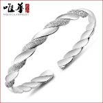 Factory wholesale fashion silver <b>jewelry</b> wholesale site Taobao silver plating silver bracelet <b>supply</b> intertwined love bracelet