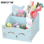 EZONE Candy Color Box For <b>Jewelry</b> Organizer For Cosmetics Cute Cat Office Pen Box Container Desktop Storage Home Office <b>Supplies</b>