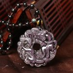Natural light Rainbow Obsidian Dragon Pendant lucky evil brave men and women <b>jewelry</b> wholesale <b>supply</b> Made in China