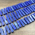 Blue Lapis Stick Beads Rectangle Lapis Lazuli Slab&Slice Beads Center Drilled Blue Lapis Gemstone Beads <b>Supplies</b> 8-10*30-45mm fu