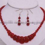 Prett Lovely Women's Wedding shipping> >Charming!Red gem <b>Jewelry</b> Round Beads Pendant Necklace Earrings Set silver-<b>jewelry</b>