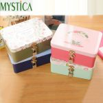 1PCS Cute Kawaii Cartoon Metal Box <b>Jewelry</b> Toy Storage Boxes Home Decoration <b>Supplies</b> Cosmetic With Lock Packing Organizer Case