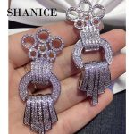 SHANICE DIY <b>Jewelry</b> Findings <b>Supplies</b> Paved Cubic Zirconia Fine <b>Jewelry</b> Sweater Pearls Necklace Connector Pendants Accessories