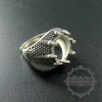 13mm setting size dragon claw round bezel tray 925 sterling silver ring setting DIY <b>jewelry</b> <b>supplies</b> 1213031