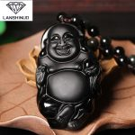 <b>supply</b> of natural counter Matte Black Obsidian free Buddha Pendant Crystal Necklace <b>Jewelry</b> evil men and women