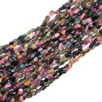 New Stone 5-9 mm Natural Colorful Pink Melon Tourmaline Chips Beads For DIY <b>Jewelry</b> Making <b>Supplies</b>