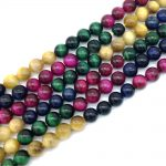 Hot Sale Colorful Tiger Eye Stone Beads 10 mm 12 mm Mixed Colors String Round Loose DIY Making <b>Jewelry</b> <b>Supplies</b>