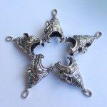 Hot Sale!!5pcs Carved Bear teeth accessories,<b>Jewelry</b> Making Findings,DIY <b>Supplies</b>,48x17x12mm