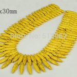 15.5 inches strand of Smooth Horse Eye Yellow Howlite Beads, Loose Bulk Tur quoise Pendant Beads <b>Jewelry</b> Making <b>Supplies</b>