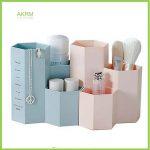 Cosmetics Makeup Brushes Plastic Storage Box <b>Jewelry</b> Case Office Bathroom Storage Organizer Accessories <b>Supplies</b> Stuff Products
