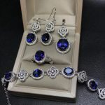 MeiBaPJ Classic Natural Royal Tanzania Blue Topaz Jewelry Set 925 <b>Silver</b> 4 Siut Fine Jewelry Wholesale recommendation