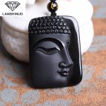 Natural counter genuine Obsidian pendant <b>jewelry</b> Buddha Pendant <b>Jewelry</b> wholesale <b>supply</b> side of men and women Made in China