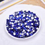 SS3-SS34 Glass Crystal Royal Blue Nail Rhinestones Flat Back Non Hotfix Glitter Nail Stones DIY3D Nail <b>Supplies</b> Diy Accessories