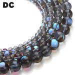 DC 1Strand/lot 6/8/10/12mm Round Gray Crystal Glass Beads Glow in The Dark Loose Spacer Beads for <b>Jewelry</b> Making <b>Supplies</b>