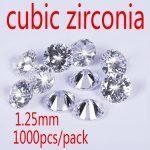 1.25MM Cubic Zirconia Stone AAA Grade CZ Round Zircon Pedra de Zirconia DIY Beads <b>Supplies</b> for <b>jewelry</b> wholesale