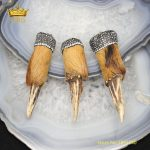 NEW Sale,3pcs Antler Pendants Fashion <b>Jewelry</b>,Long Deer Horn Shape Charms Pave Rhinestones Crafts Necklace <b>Supplies</b> for Men YT21